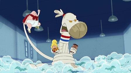 觀賞內褲隊長和臭襪章魚的奇怪衝突。第 1 季第 9 集。