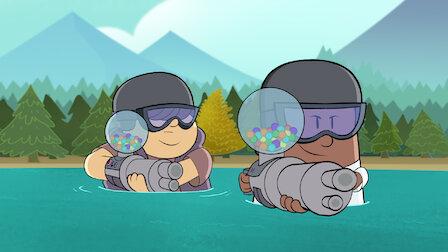 觀賞內褲隊長與秘密偽裝怪的狡猾戰鬥。第 3 季第 7 集。