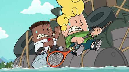 觀賞內褲隊長與黏滑蠑螈怪的殘暴怒火。第 3 季第 6 集。